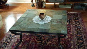 Square Slate Coffee Table