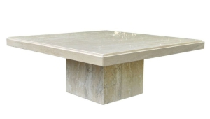 Square Travertine Coffee Table