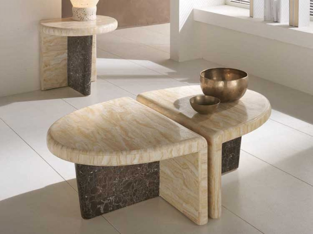 Stone Coffee Table Interesting Form - Stone Coffee Table Design Images Photos Pictures