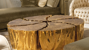 Stylish Gold Coffee Table