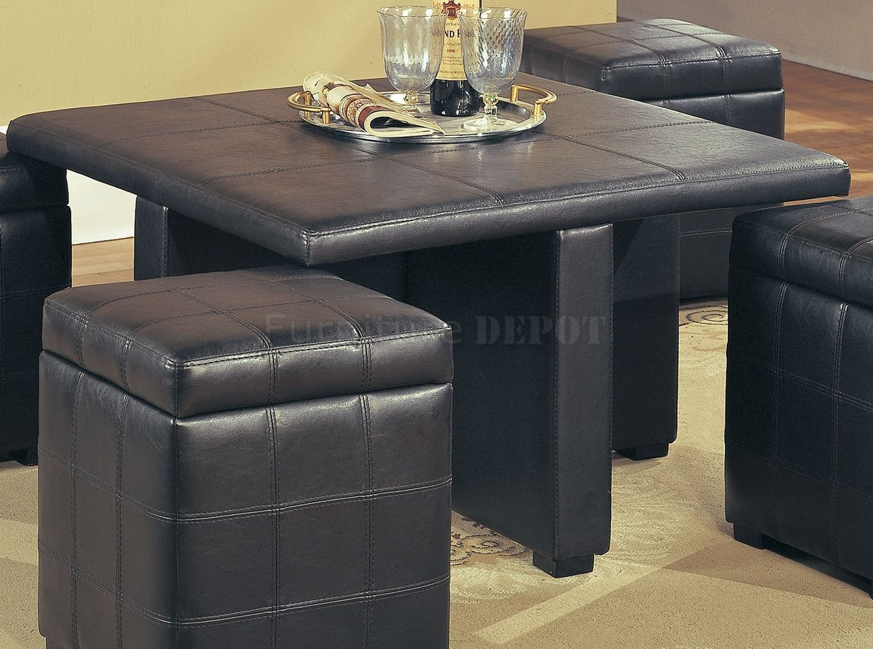 Leather coffee table design images photos pictures Red leather ottoman coffee table
