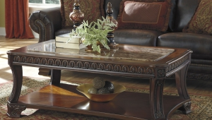 Traditional Coffee Table With Open Shelf
