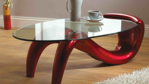 Trendy Modern Glass Coffee Table