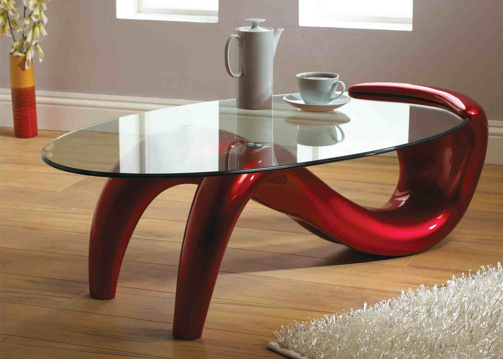 Modern glass coffee table design images photos pictures for Contemporary glass top coffee table