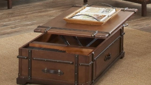 Trunk Coffee Table With Sliding Top