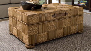 Wicker Coffee Table Trunk