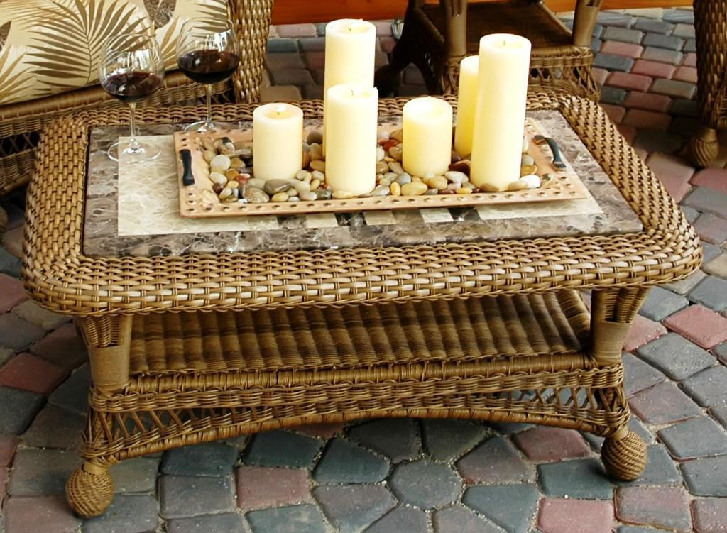 Wicker Coffee Table Design Images Photos Pictures