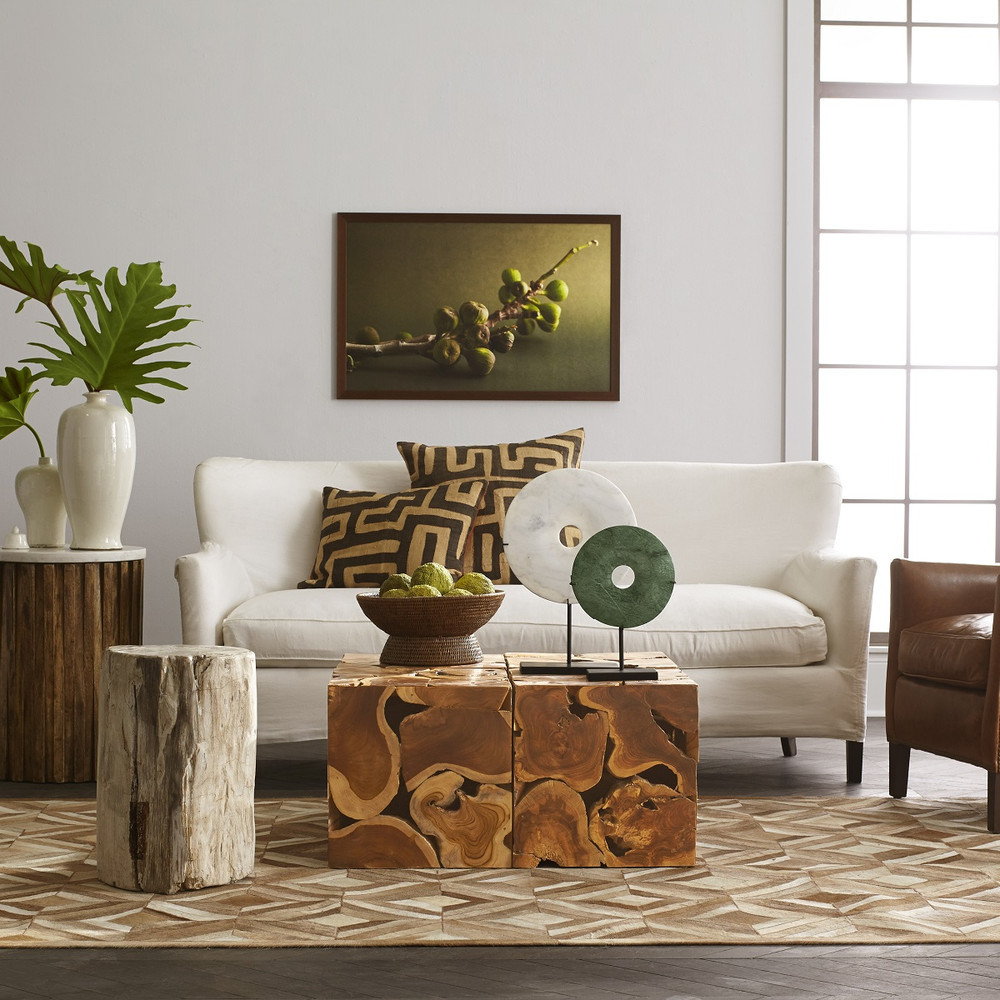 Wisteria Teak Cube Coffee Table