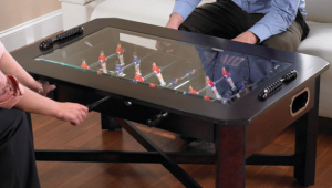 Wood Foosball Coffee Table