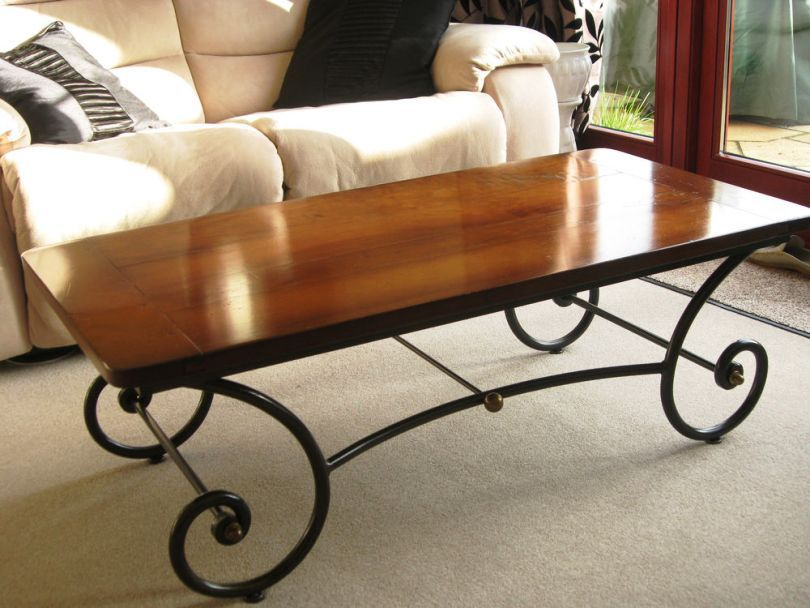 Wrought iron coffee table design images photos pictures for Glass top coffee table with wrought iron legs