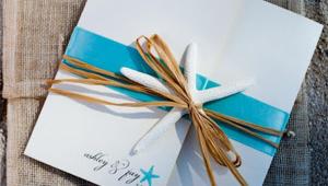 Beach Wedding Invitation Idea