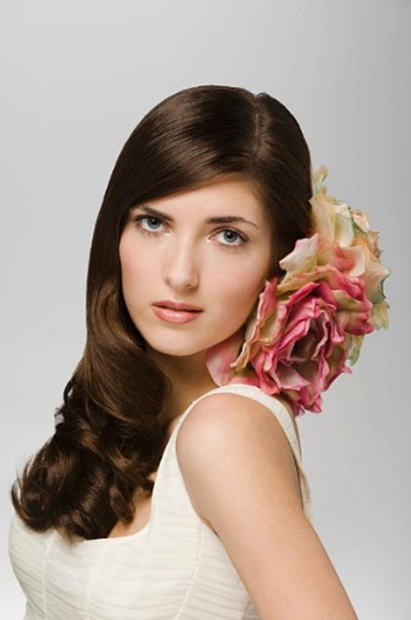 Cool Black Long Wavy Bridal Hair Hairstyles For Women Draintrainus