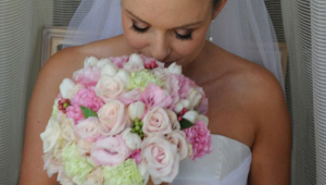 Chic Bridal Flower And Bride