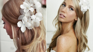 Long Blonde Cute Bridal Hair