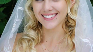 Long Blonde Wavy Cute Wedding Hair