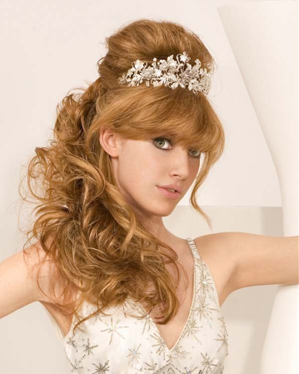 Long Curly Hair Wedding Hairstyles: Wedding Hairstyles For Long Hair Images Photos Pictures