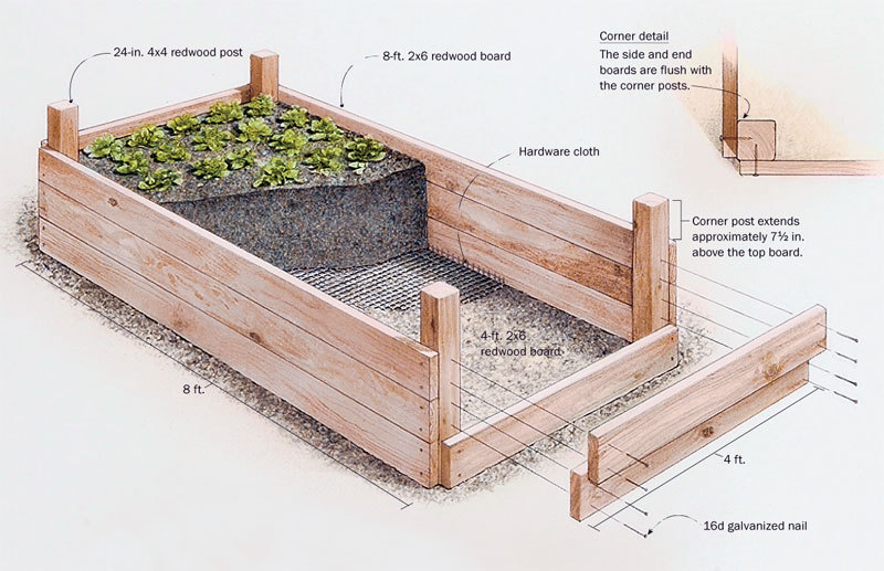 Raised garden beds ideas for growing images for Raised bed plans