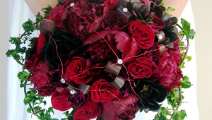 Red Creative Bridal Bouquet