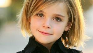 Short Blonde Kid Hair Cut