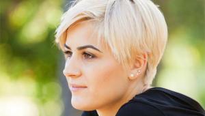 Short Blonde Stylish Hair