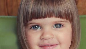 Short Cute Girl Kid Hair Cut