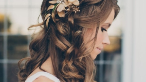 Teen Wedding Hairstyles For Long Hair Down With Flowers Ideas