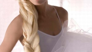Unusual Long Blonde Wedding Hairstyling