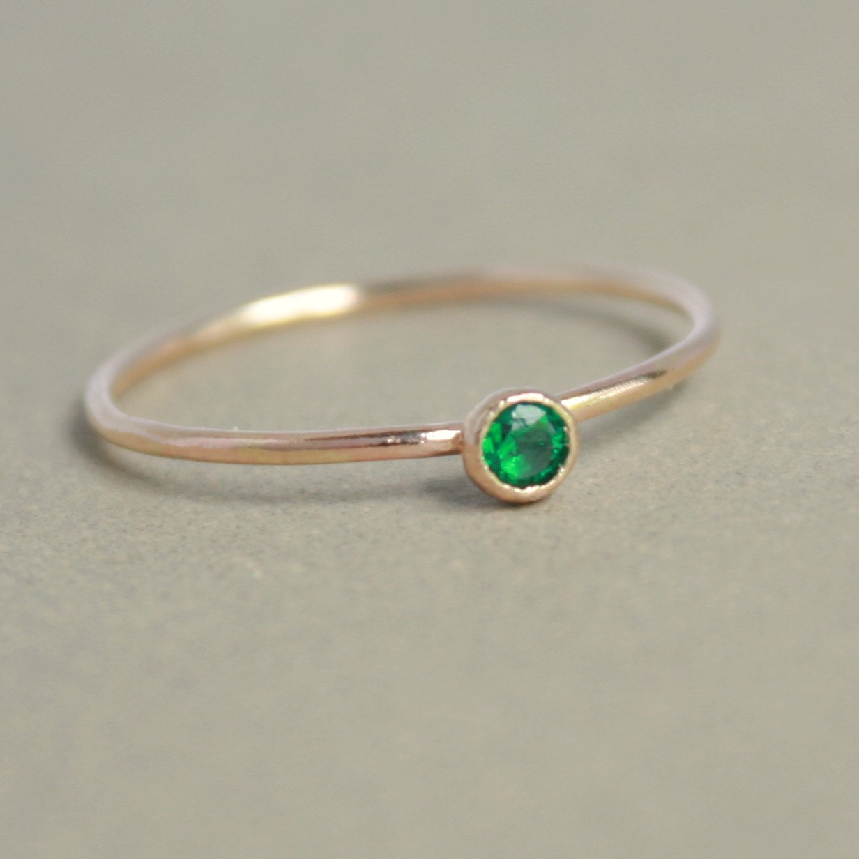 Small Gold Birthstone Ring