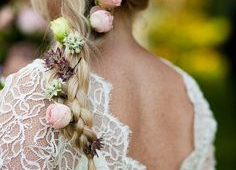 Wedding Hairstyles With Flowers Heavy Loose Pony