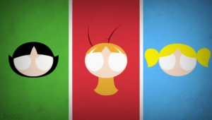 Powerpuff Girls Blo0p Minimalism