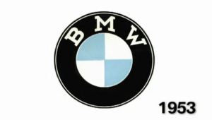 bmw logo in black and white