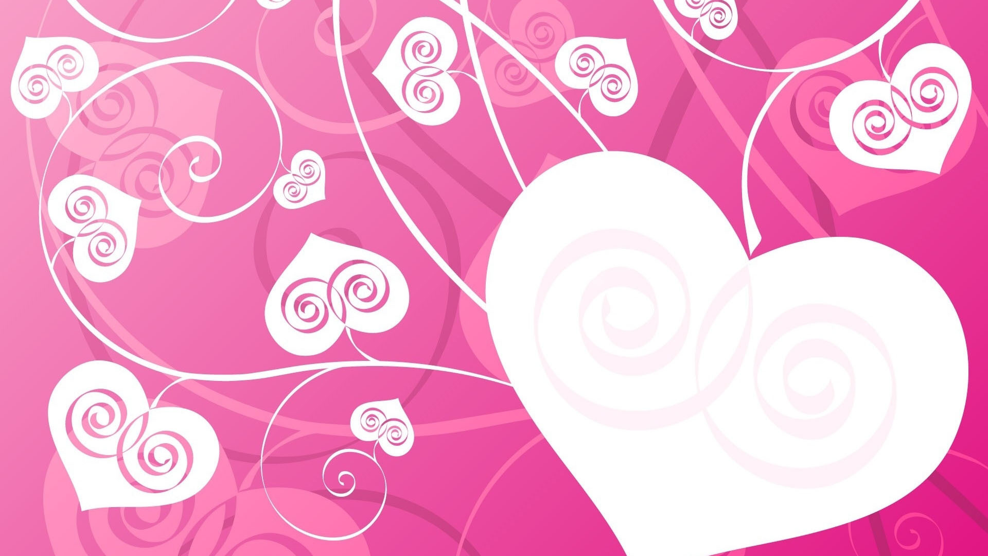 Pink Abstract Widescreen