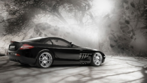 Mercedes Benz SLR McLaren HD Background