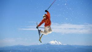 Skiing Background