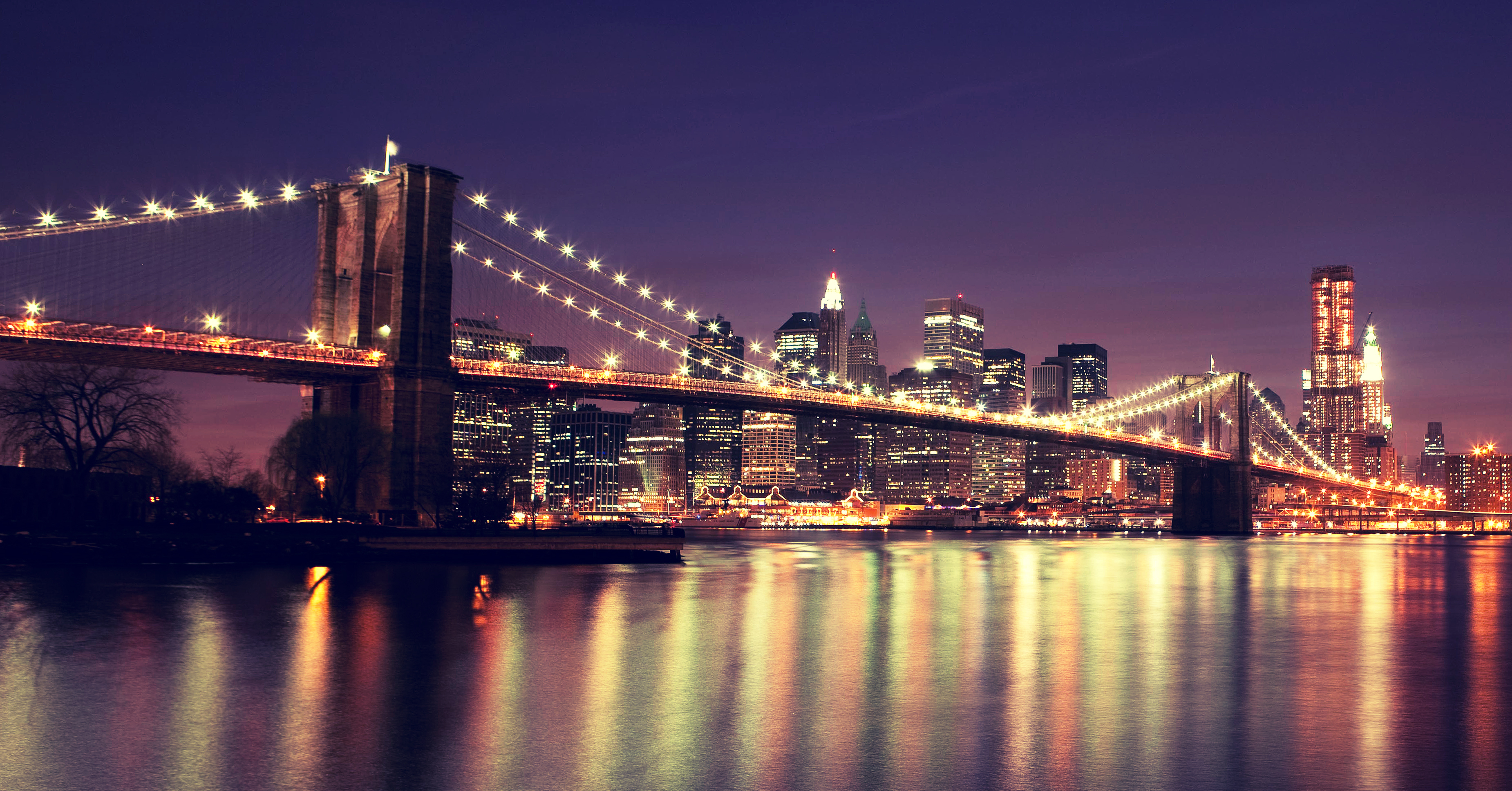 brooklyn bridge wallpapers images photos pictures backgrounds. Black Bedroom Furniture Sets. Home Design Ideas