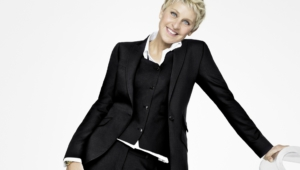 Ellen Degeneres In Black Coat Images