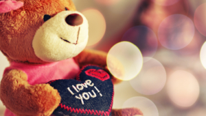 I Love You Teddy Bear Hearts Wide