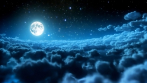 Night Sky Moon For Desktop