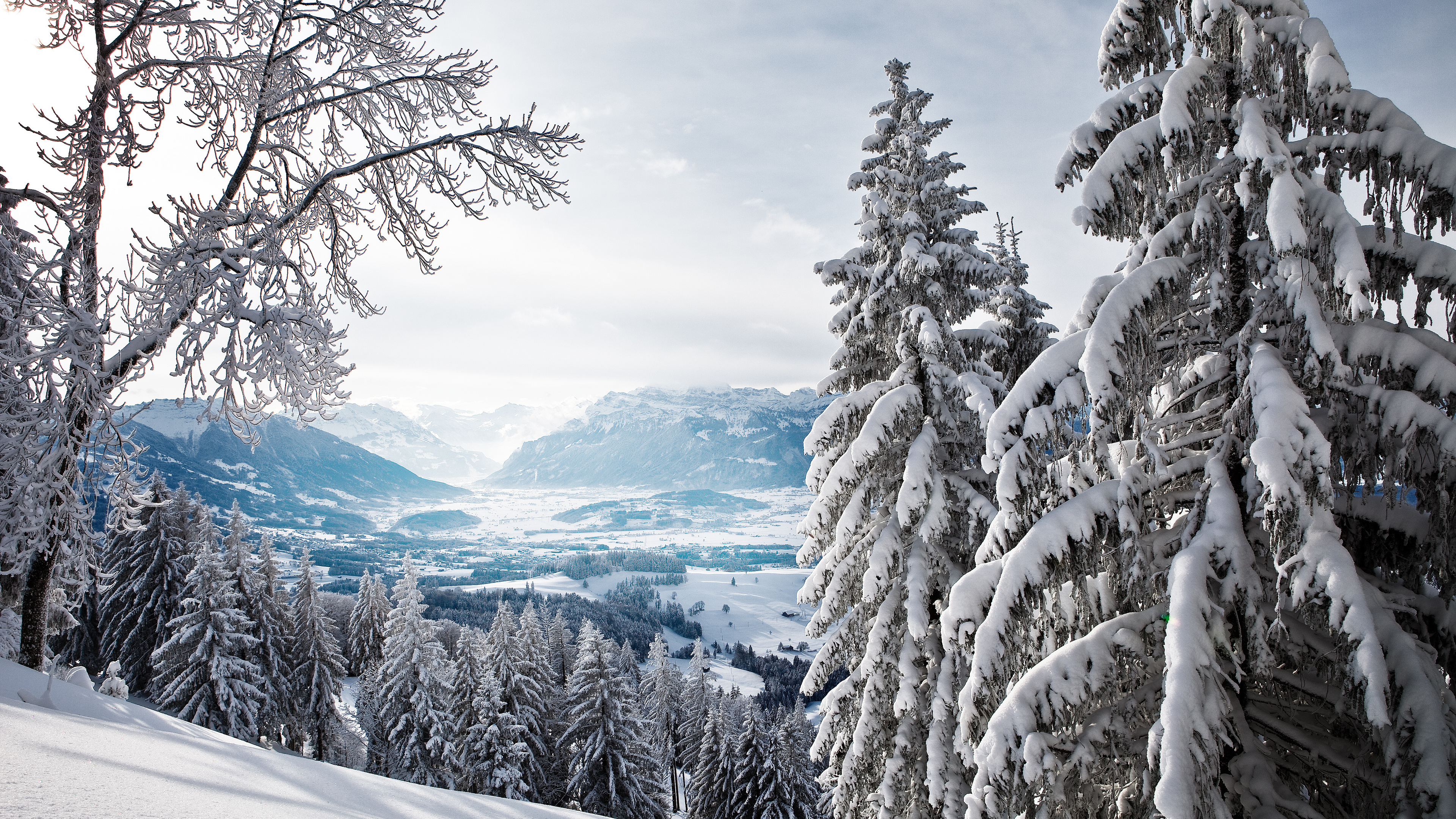 Winter Mountains 4k