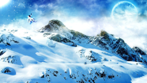Winter Mountains Hd Background