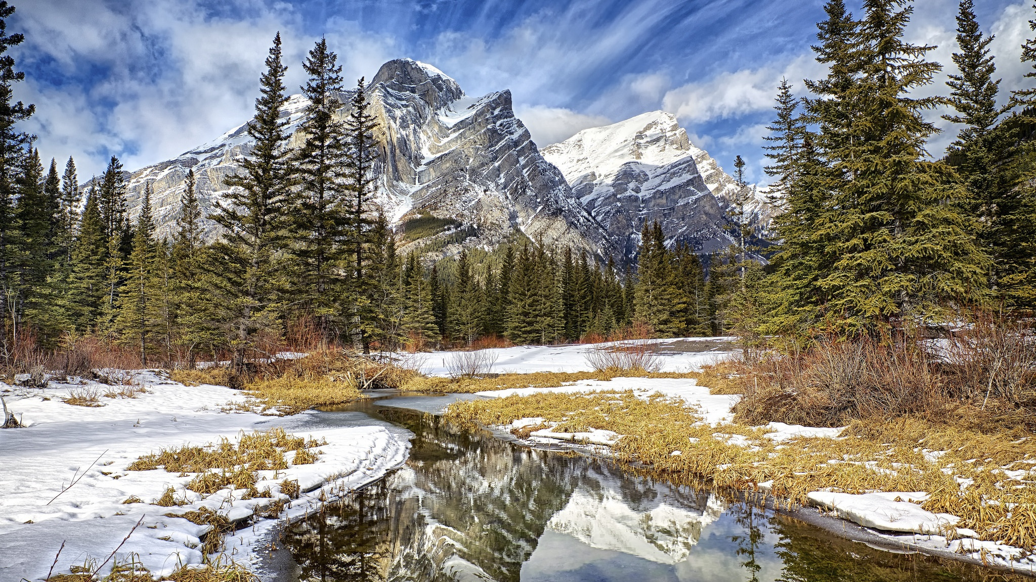 Winter Mountains Hd Desktop