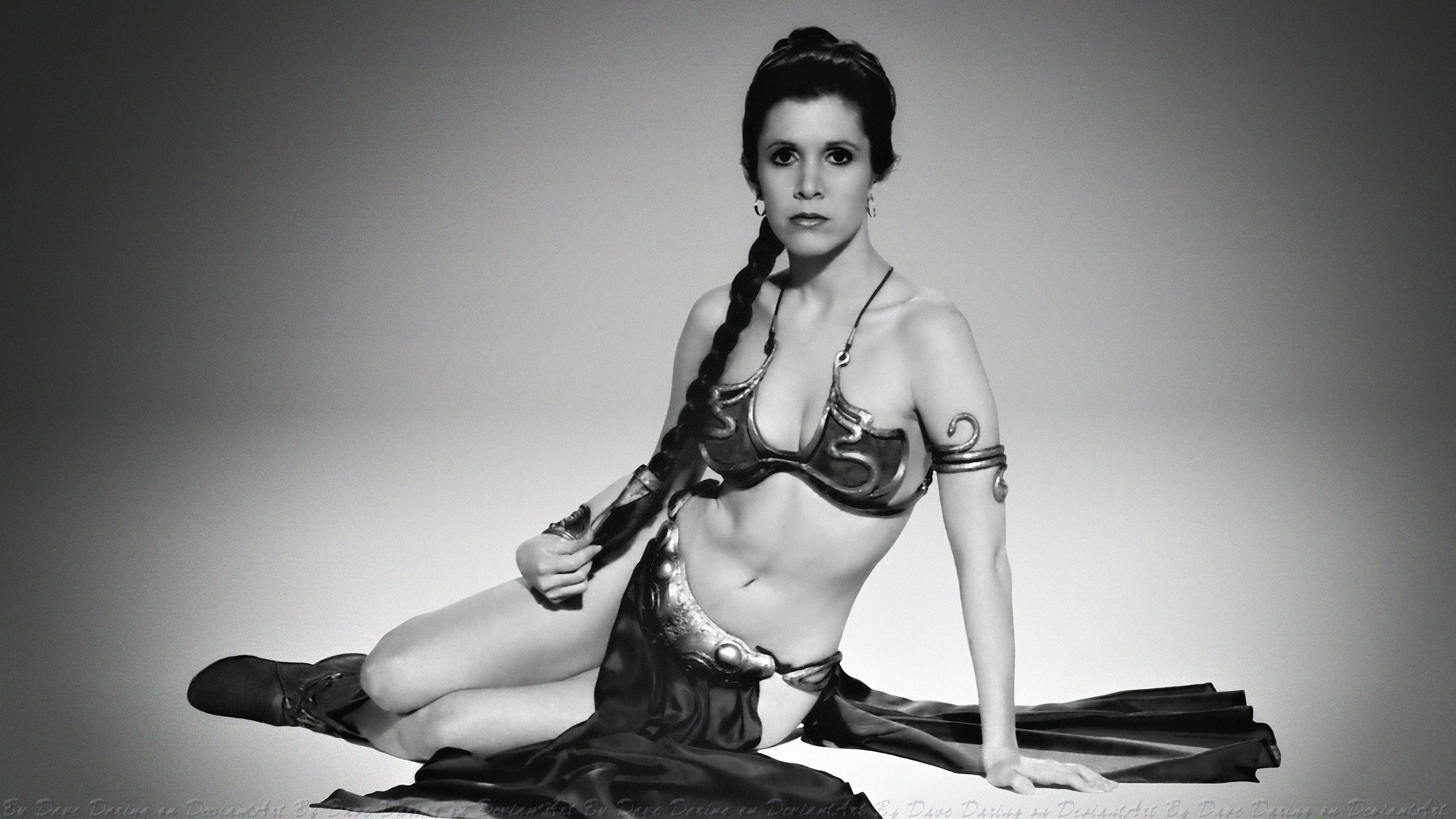 Carrie fisher princess leia slave