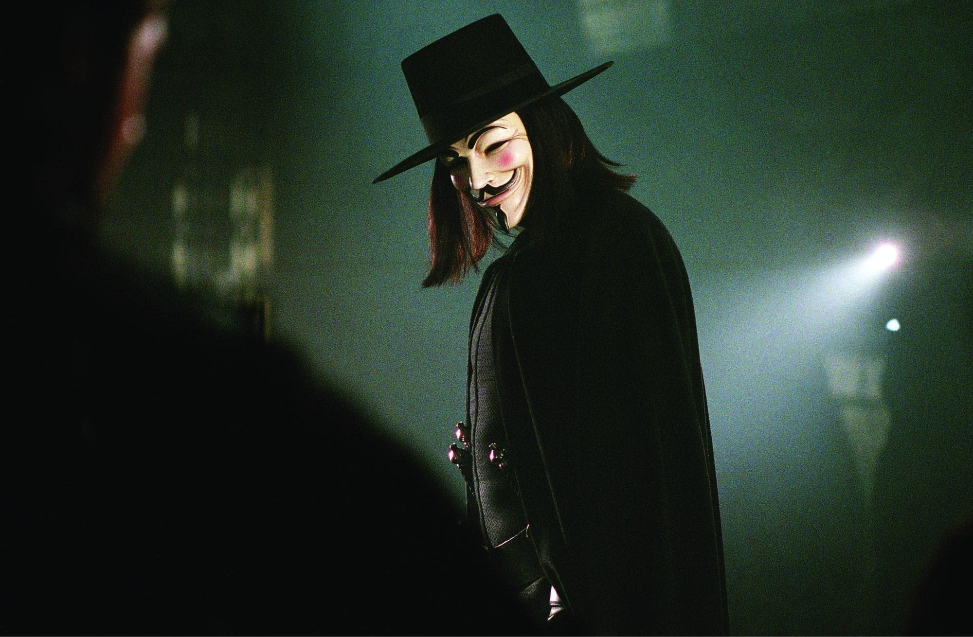 V for Vendetta Wallpap...V For Vendetta Mask Wallpaper