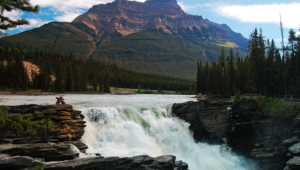 Athabasca Falls At Dusk High Definition Wallpapers
