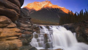 Athabasca Falls At Dusk Images
