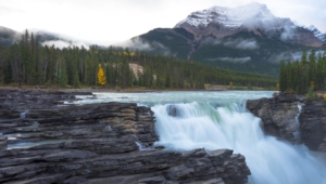 Athabasca Falls At Dusk Wallpapers