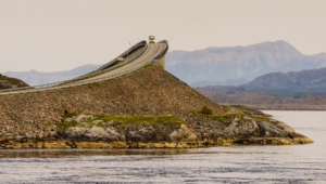 Atlantic Ocean Road In Norway 4k