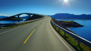 Atlantic Ocean Road In Norway Hd Background