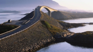 Atlantic Ocean Road In Norway Photos