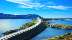 Atlantic Ocean Road In Norway For Desktop